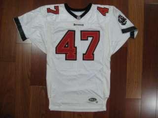 1997 Authentic Buccaneers John Lynch WILSON jersey 46 WHITE PRO Line