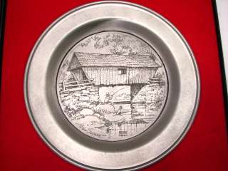 INT SILVER CO SEASONS AMERICA PEWTER PLATES PAST SLOANE