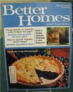 BETTER HOMES & GARDENS MAGAZINE JULY 1969 BLUEBERRY PIE