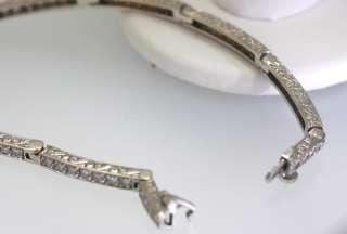 89ct 18k wg Link Diamond Tennis Bracelet