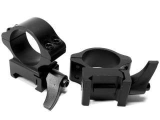 NcSTAR 1 Steel Rifle Scope Rings with Mounting Lever for Weaver