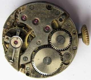 Used H. Didisheim Locust ID. 10 watch movement 15 jewels 2 adj.for