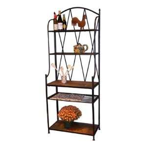 4D Concepts Bakers Rack with Slate Top: Furniture & Decor
