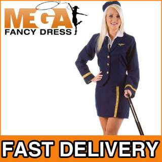 British Airways Fancy Dress Air Hostess Costume + Hat