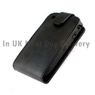Leather Flip Case Pouch Cover for Blackberry Curve 8520