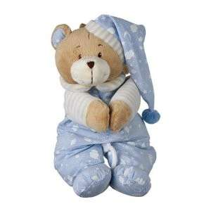 Soft Blue Musical Lullaby Teddy Can Attach To Cot New Baby BoyToy Gift