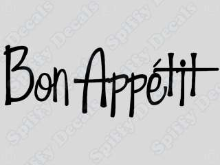 BON APPETIT Home Kitchen Vinyl Wall Decal Quote NEW