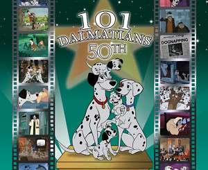 101 DALMATIANS 50TH ANNIVERSARY ANIMATION ART CEL