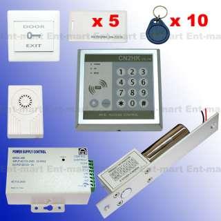 RFID Access Control DIY Full Kit Set Electric Bolt Door Lock (NC Fail