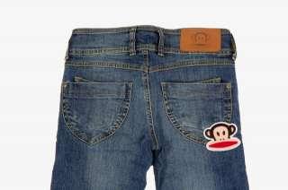 Paul Frank Julius Washed Denim Slim Fit   Jeans Blu Scuro Stretti   Sz