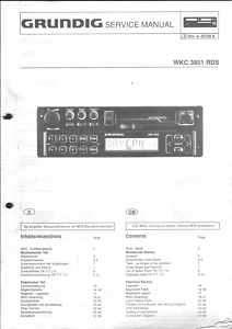 Grundig Orig.Service Manual f. CAR WKC 3851 RDS