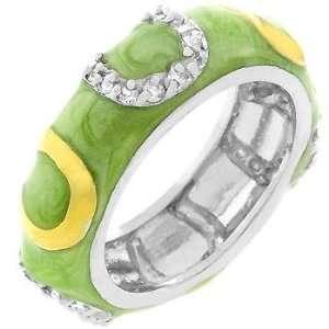 Light Green Enamel Horseshoe Ring (size 10) Everything