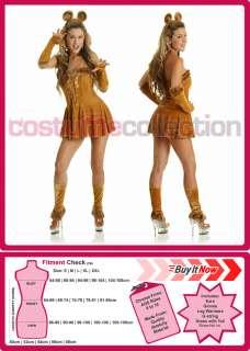 Ladies Cowardly Lion Dorothy & Wizard of OZ Fancy Dress Halloween