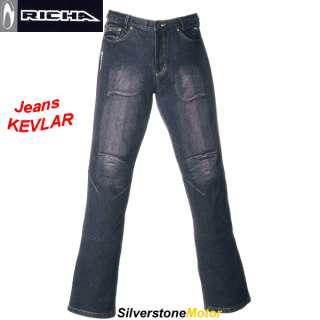 RICHA pantalon jeans KEVLAR homme moto scooter US 34 42