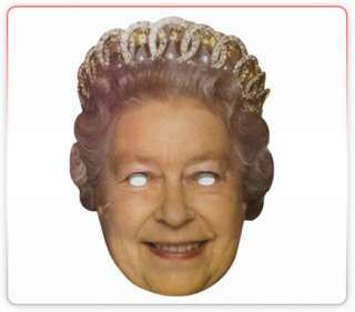Queens Celebrity Funny Face Mask Ideal For Fancy Dress Hen Stag Office