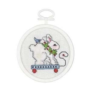 Janlynn Rabbit Pull Toy Mini Counted Cross Stitch Kit 2 1
