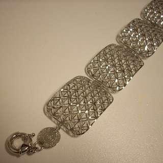 Bracciale Donna Oro Bianco 18 kt Piastrine Gr 16,00