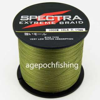 Top Quality PE Dyneema Spectra Braided Fishing Line 1000M Green