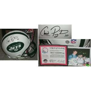Chad Pennington Signed Jets Pro Riddell f/s Helmet:  Sports