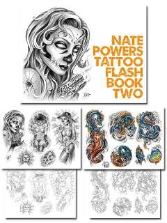 Tattoo Supplies Flash Book NATE POWERS vol 2 Gangster
