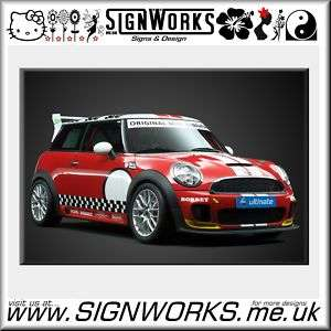 BMW MINI Challenge Full Race Car Vinyl Sticker Kit