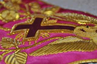 Rose Croix 18th Degree Collar, featuring a swivel clip for attachment