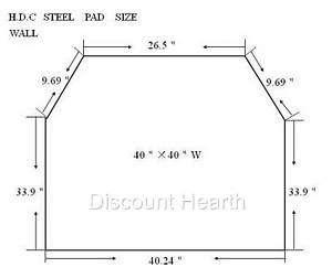 Wood Pellet Stove Board Hearth 2.4 R Value Stardust Floor Pad