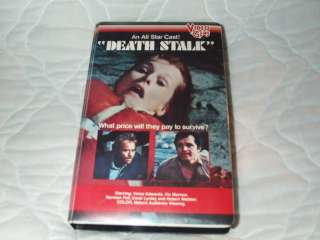 DEATH STALK VHS CAROL LYNLEY VIC MORROW VIDEO GEMS CLAM