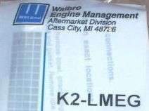 CARBURETOR REPAIR rebuild KIT WALBRO k2 lmeg lme lmg