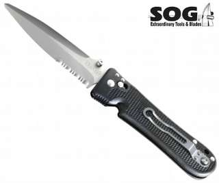 NEW SOG PENTAGON ELITE I FOLDING KNIFE (PE 14) JAPAN
