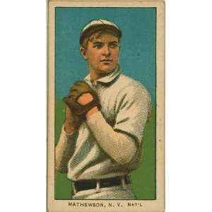 Christy Mathewson, New York Giants, baseball card 1909