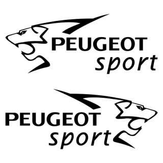 PEGATINAS PEUGEOT SPORT // 2 STICKERS PEUGEOT SPORT