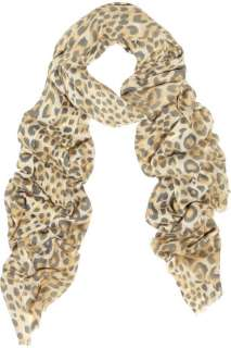 Lily and Lionel Cheetah print wool scarf   55% Off Now at THE OUTNET
