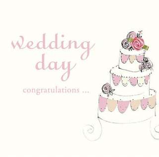 handmade wedding day card by laura sherratt designs