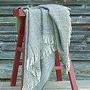 herringbone weave alpaca merino wool throw by woolme
