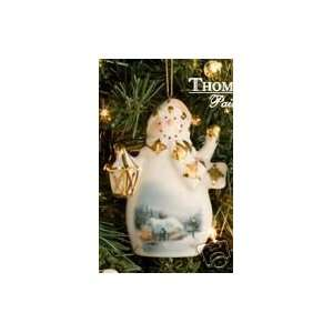 THOMAS KINKADE christmas tree SNOWMAN ornament