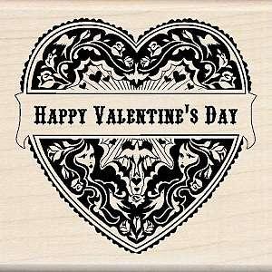 Inkadinkado Seasonal Mounted Rubber Stamp   Mindscape Happy Valentine
