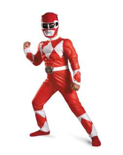 Red Ranger Classic Muscle Child Costume