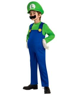 Child Deluxe Super Mario Luigi Costume  TV and Movie Halloween