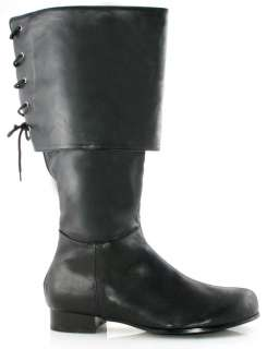 Mens Black Pirate Boots   Pirate Costume Accessories