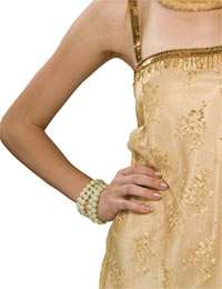 That Jazz Multi Strand Pearl Bracelet   Flapper Costume Accessories