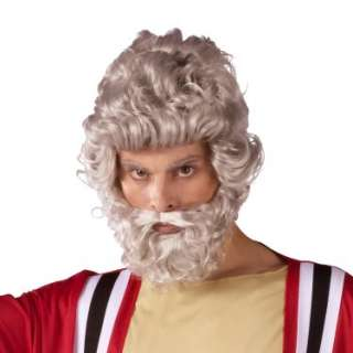 Halloween Costumes Moses Wig And Beard Set (Adult)