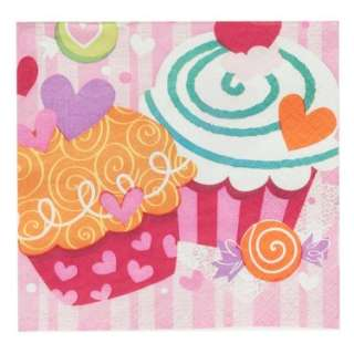 Halloween Costumes Valentines Day Cupcake Hearts   Beverage Napkins