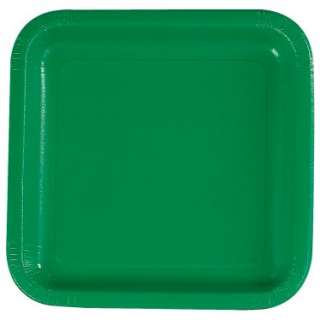 Green Square Dinner Plates (12 count)   Costumes, 46289
