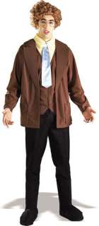 The ultimate nerd costume. Includes jacket with attached vest, shirt
