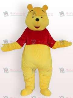 Soft Winnie Pooh Bear Short Plush Adult Mascot Costume