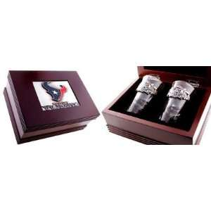 Houston Texans Gift Box with Flared Shooters: Kitchen & Dining