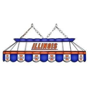 Illinois Illini NCAA MVP Stained Glass Pool Table Light
