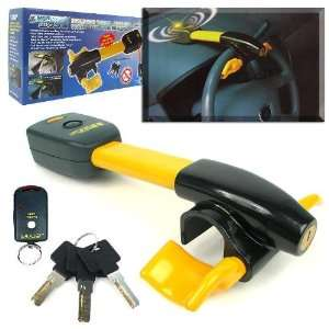 Steering Wheel Anti Theft Alarm with Lock and Remote Electronics