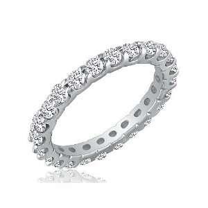 14K White Gold Anniversary Diamond Eternity Ring, Sizes 3 9 ( 2cttw.G